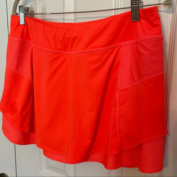 Athleta Short Orange tennis skort skirt—size L